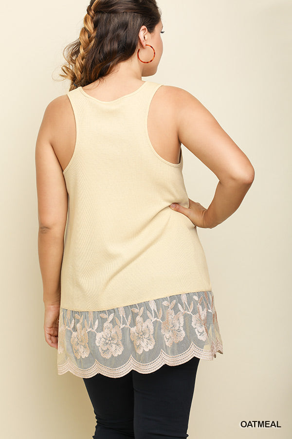 On My Wishlist Tank Top - Oatmeal