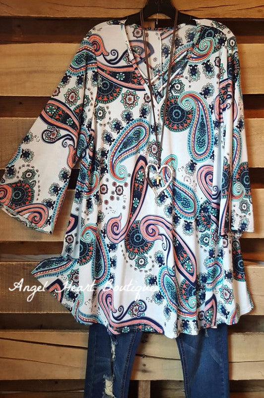 Can't Get Enough Tunic - Mint - 2N1 Apparel - Tunic - Angel Heart Boutique