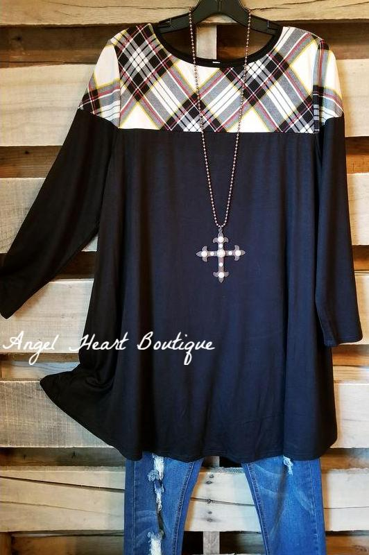 Hold You Dear Tunic - Black - SALE-BLACK FRIDAY [product type] - Angel Heart Boutique