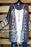 Aura Cardigan - Grey [product type] - Angel Heart Boutique