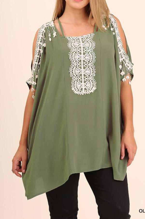 Rise To The Occasion Tunic - Olive - Umgee - Tunic - Angel Heart Boutique  - 1
