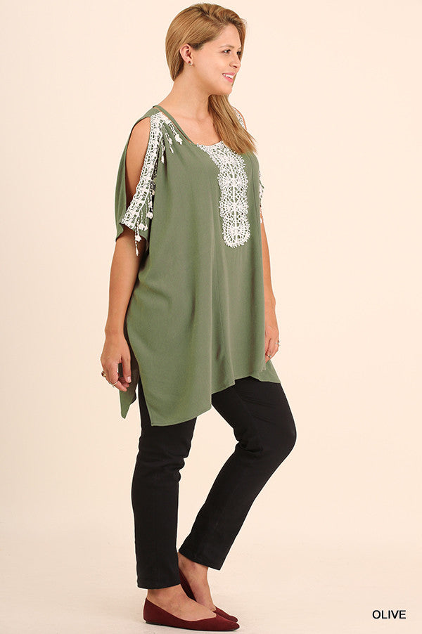 Rise To The Occasion Tunic - Olive - Umgee - Tunic - Angel Heart Boutique  - 2