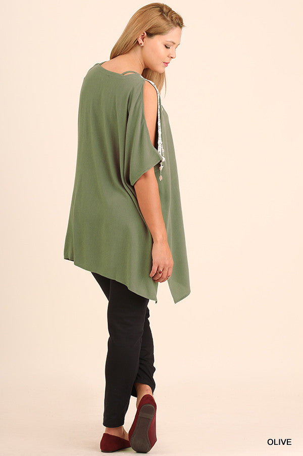 Rise To The Occasion Tunic - Olive - Umgee - Tunic - Angel Heart Boutique  - 3