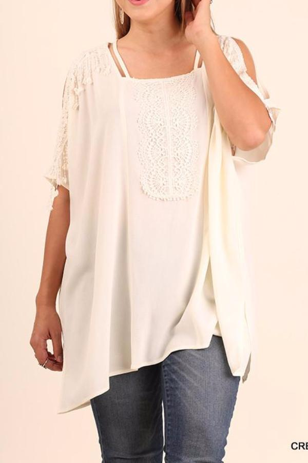 Rise To The Occasion Tunic - Cream - Umgee - Tunic - Angel Heart Boutique  - 1
