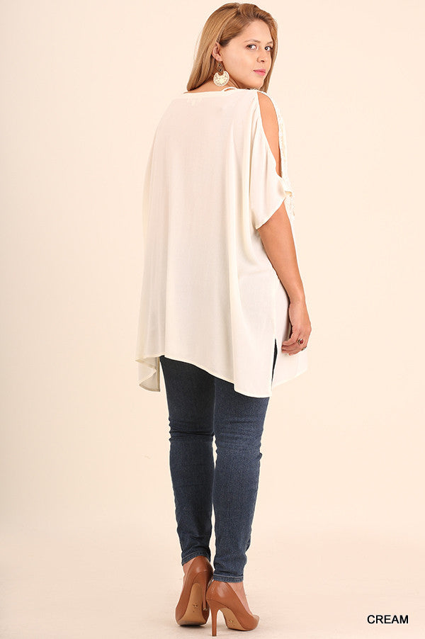 Rise To The Occasion Tunic - Cream - Umgee - Tunic - Angel Heart Boutique  - 2