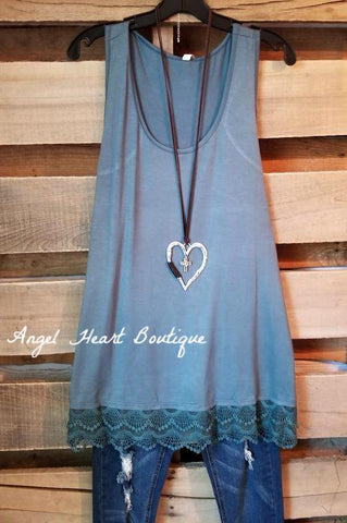 Extender: Slip on Tank/Tunic - Indigo Blue