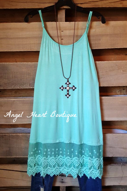 So Sweet Slip On Dress - Mint - fashionomics - Slip on - Angel Heart Boutique