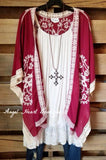 Delicate Love Cardigan - Red [product type] - Angel Heart Boutique