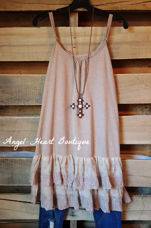 Like An Angel Slip - Mocha - lady noiz - Extender - Angel Heart Boutique