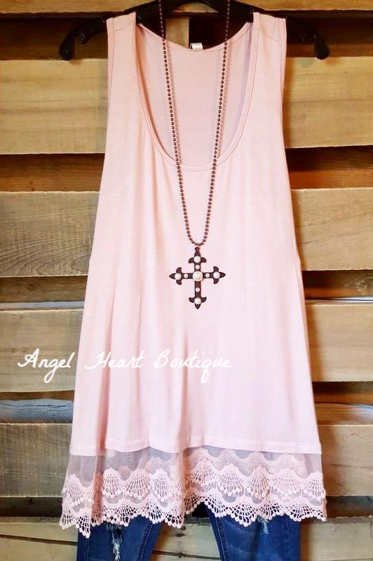 Extender: Slip on Tank/Tunic - Pink - Emerald - Dress - Angel Heart Boutique