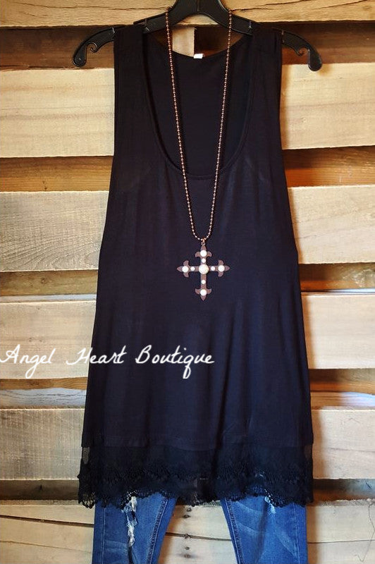 Extender: Slip on Tank/Tunic - Black - Emerald - Dress - Angel Heart Boutique
