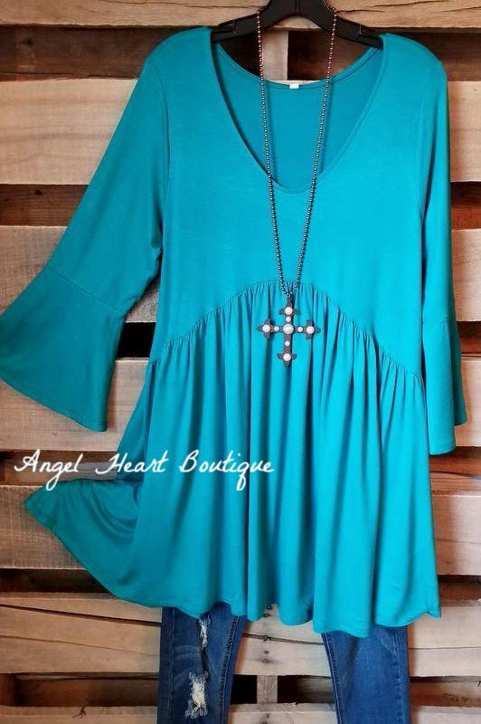 Not So Simple Top - Jade [product type] - Angel Heart Boutique