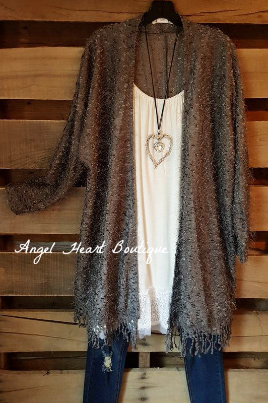 When In Love Cardigan - Gray - Sassybling - Cardigan - Angel Heart Boutique  - 1