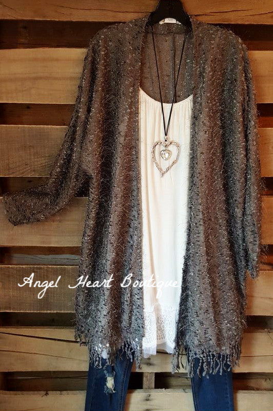 When In Love Cardigan - Gray - Sassybling - Cardigan - Angel Heart Boutique  - 2