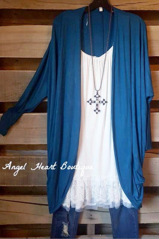 Plain & Classy Cardigan - Teal Blue - Emerald - Cardigan - Angel Heart Boutique