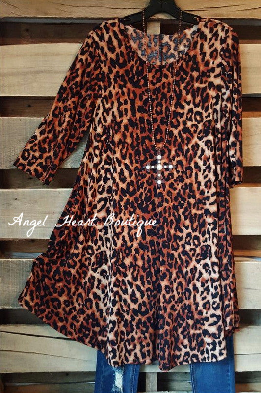 My Wild Side Tunic - Leopard - L&B - Tunic - Angel Heart Boutique