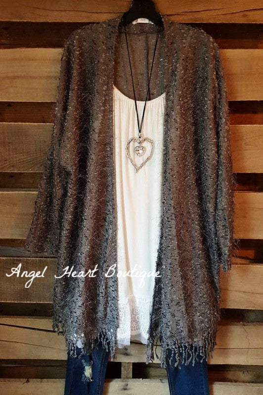When In Love Cardigan - Gray - Sassybling - Cardigan - Angel Heart Boutique  - 4