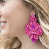 Frida Pink Earrings