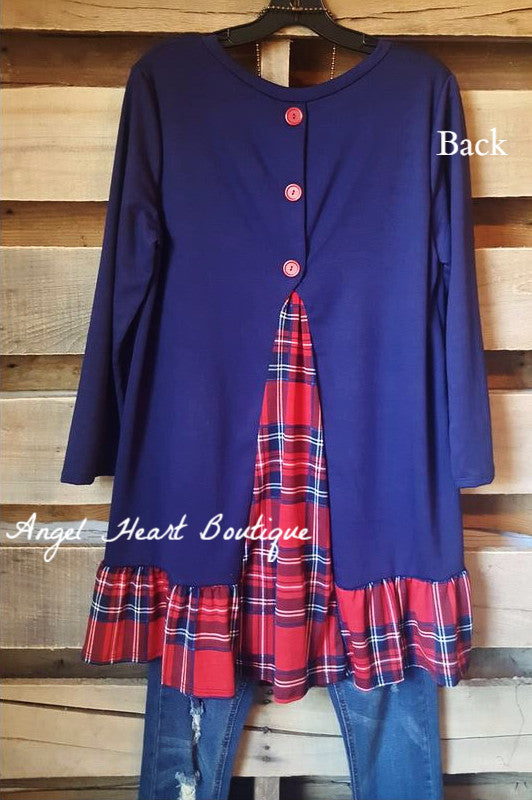 To The Top Tunic - Navy - Cezanne - Tunic - Angel Heart Boutique  - 1