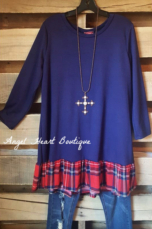 To The Top Tunic - Navy - Cezanne - Tunic - Angel Heart Boutique  - 2