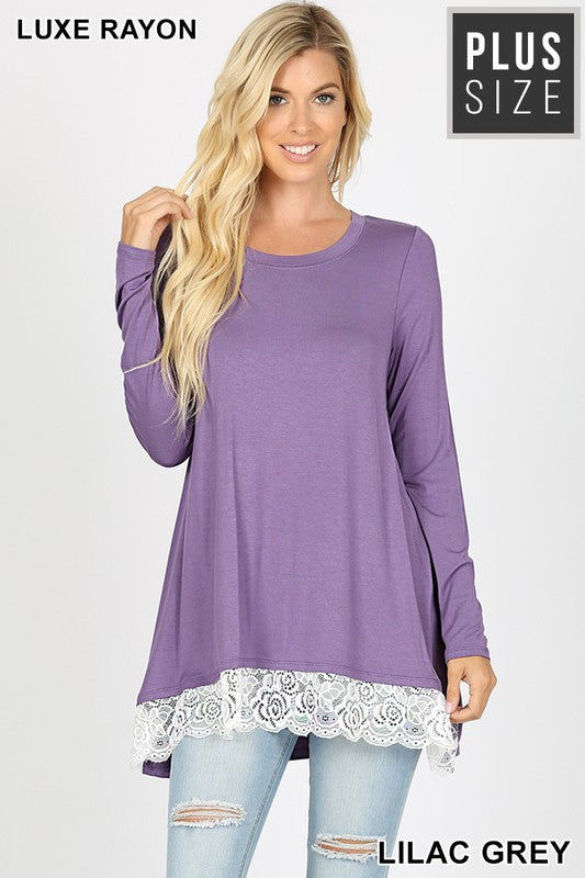 My Everything Tunic - Lilac Grey