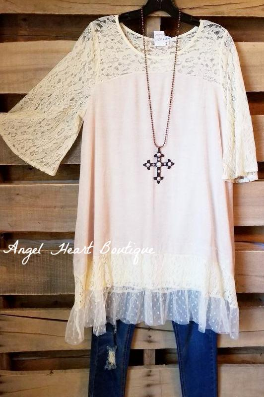Definition of Class Tunic - Beige [product type] - Angel Heart Boutique