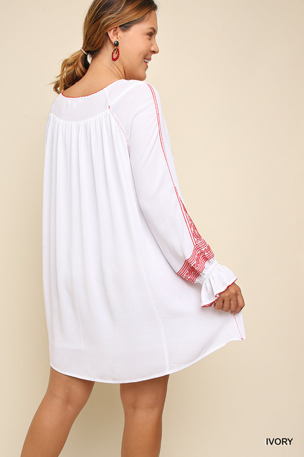 Carefree Afternoon Tunic - Ivory [product type] - Angel Heart Boutique