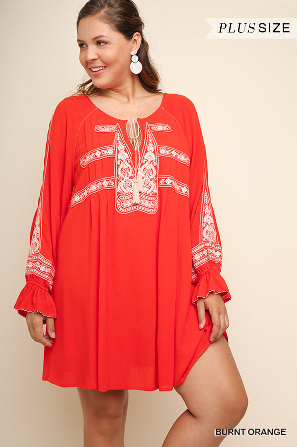 Carefree Afternoon Tunic - Burnt Orange [product type] - Angel Heart Boutique