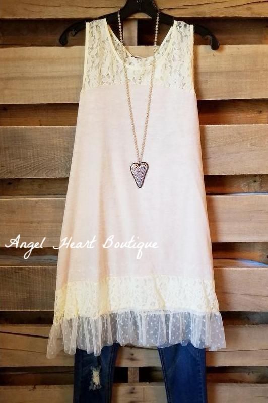 Definition of Class Tunic Sleeveless  - Beige [product type] - Angel Heart Boutique