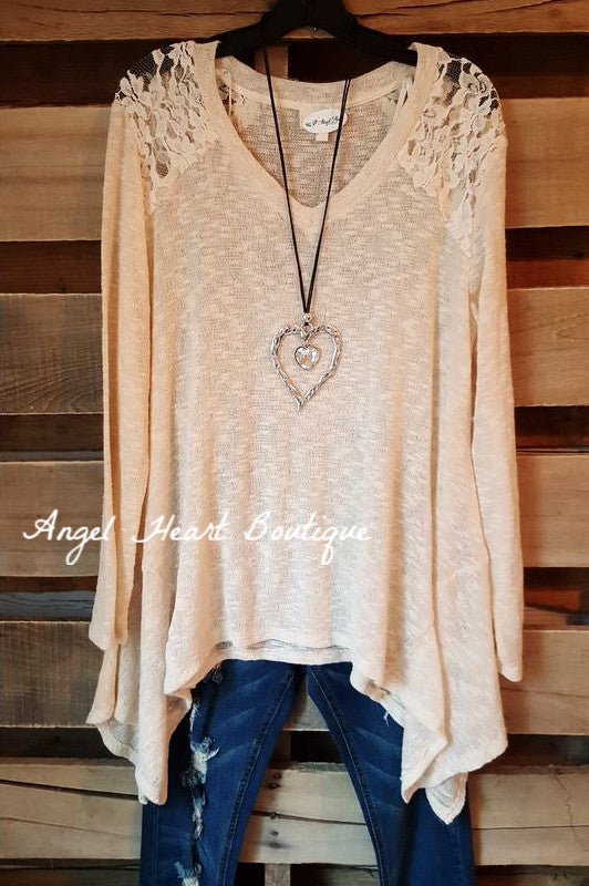 Somewhere Out There Sweater - Natural - Blu Pepper - Sweater - Angel Heart Boutique  - 1