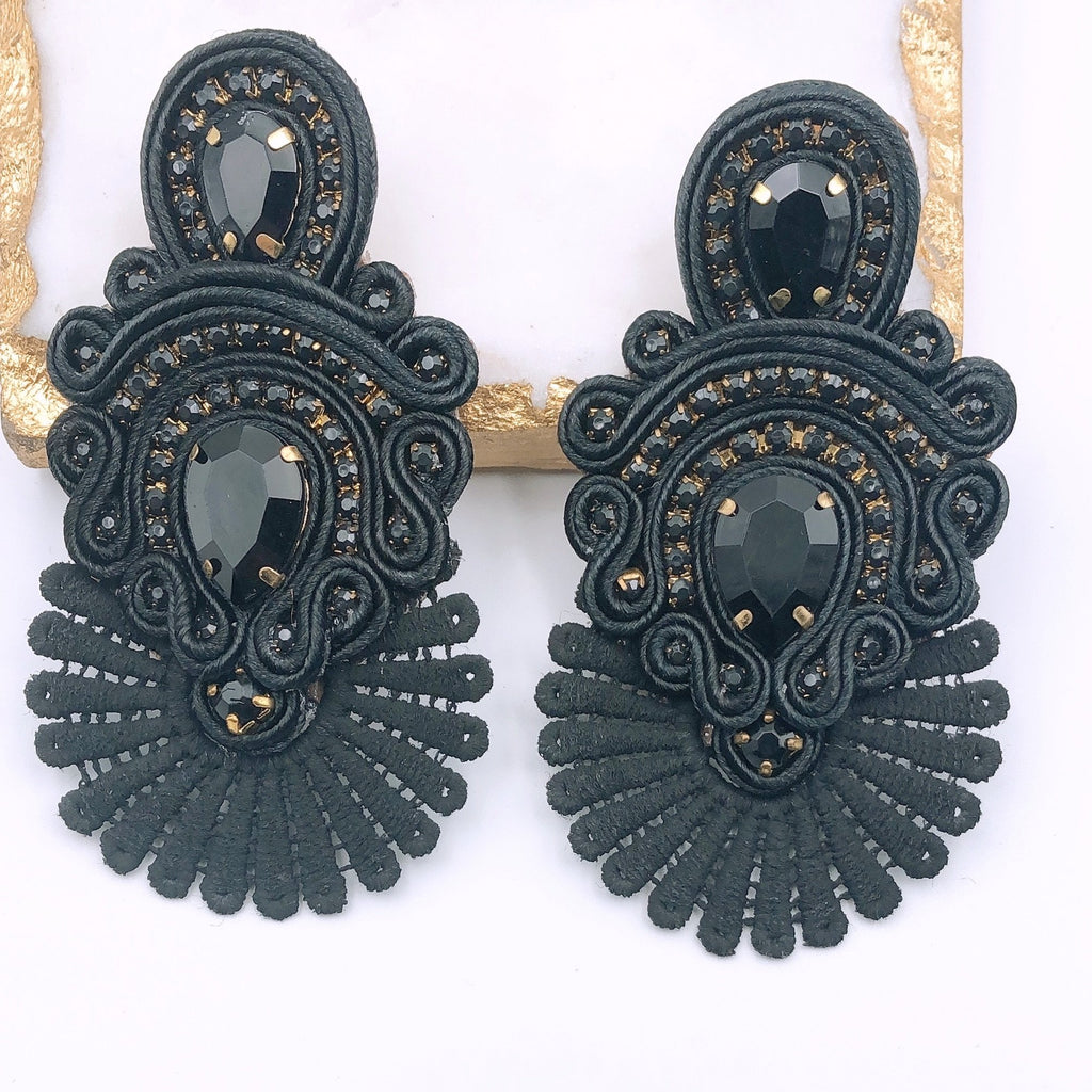 Sammy Black Earrings