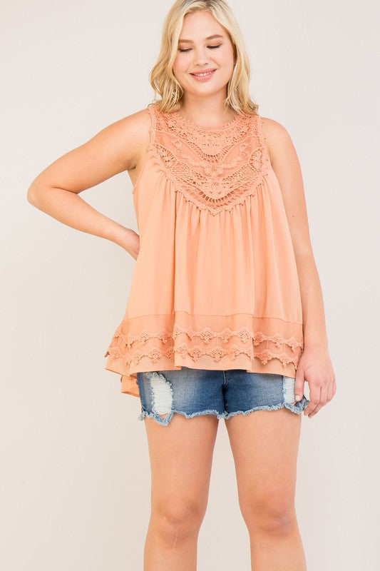 My Only Hope Tank - Blush [product type] - Angel Heart Boutique