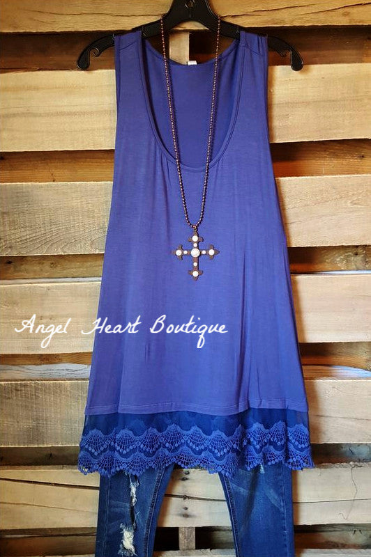 Extender: Slip on Tank/Tunic - Indigo Blue - Emerald - Dress - Angel Heart Boutique