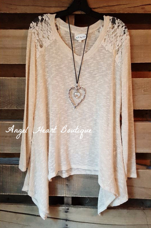 Somewhere Out There Sweater - Natural - Blu Pepper - Sweater - Angel Heart Boutique  - 2