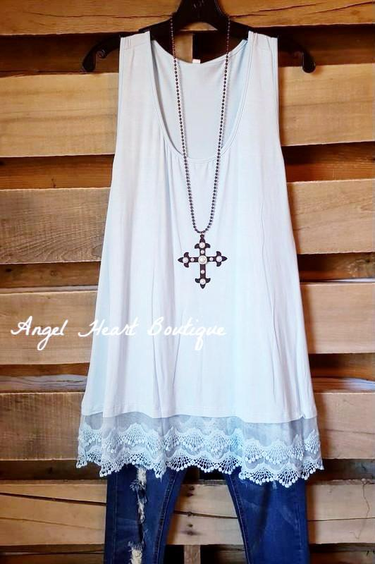 Extender: Slip on Tank/Tunic - Baby Blue - Emerald - Dress - Angel Heart Boutique
