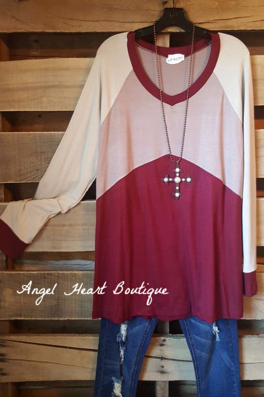 Simple, Yet, So Classy Top - Burgundy - Oddi - Top - Angel Heart Boutique