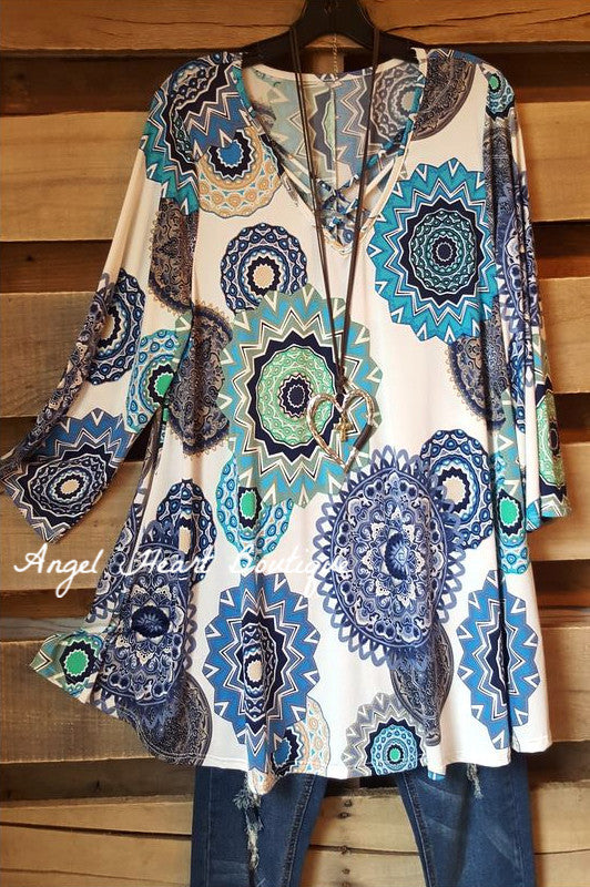 Can't Get Enough Tunic - Blue - 2N1 Apparel - Tunic - Angel Heart Boutique