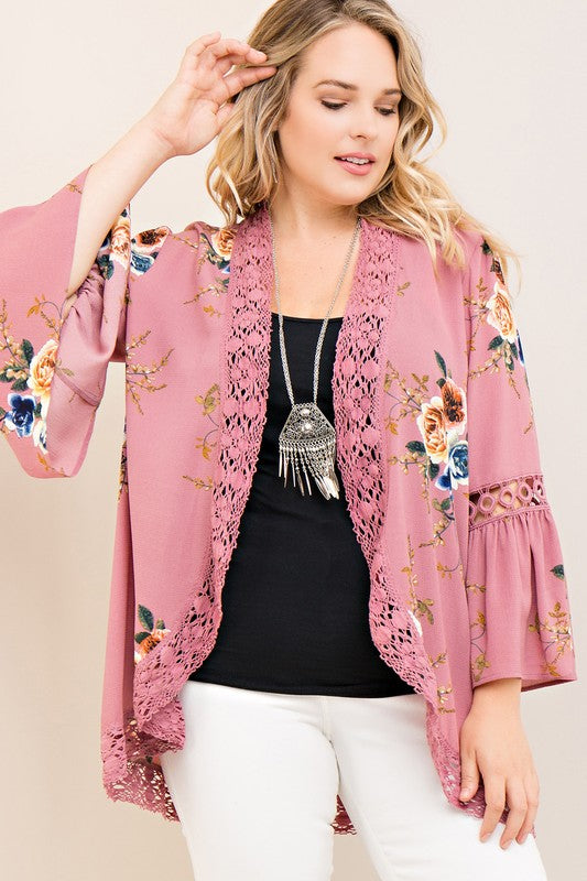 It Must Be Love Cardigan - Mauve
