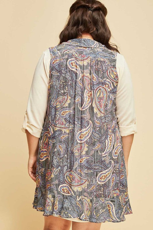 My Paisley World Vest - Black