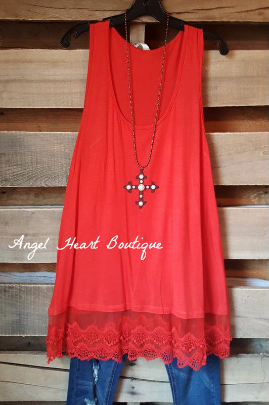 Extender: Slip on Tank/Tunic - Red - Emerald - Dress - Angel Heart Boutique