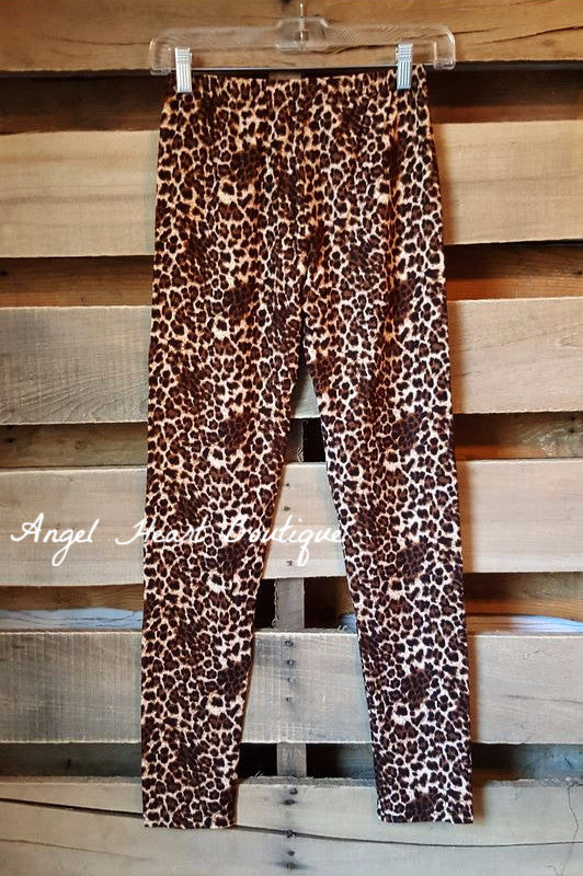 The Perfect High Waist Leggings - Leopard - 2N1 Apparel - LEGGINGS - Angel Heart Boutique