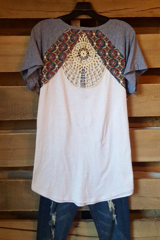 Casual Gateways Tee - Blue - Umgee - Top - Angel Heart Boutique  - 2