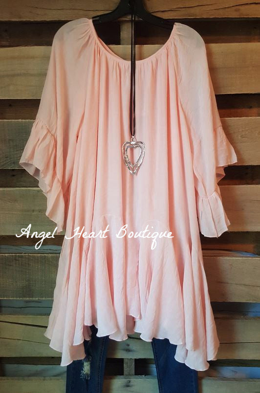 The It Girl Tunic - Pink - Sassybling - Tunic - Angel Heart Boutique  - 1