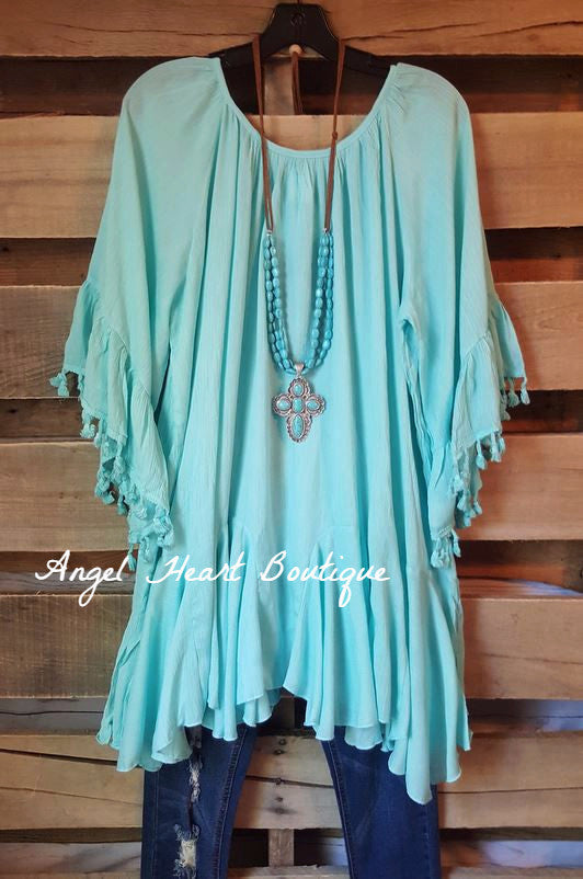 Spice Up Your Life Tunic - Blue [product type] - Angel Heart Boutique