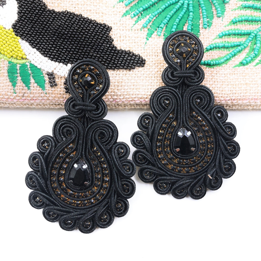 Debbie Black Earrings