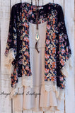 Steel Magnolia Cardigan - Black - Velzera - Cardigan - Angel Heart Boutique  - 1