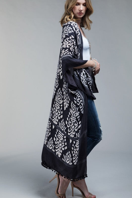 Part The Waters Kimono - Charcoal