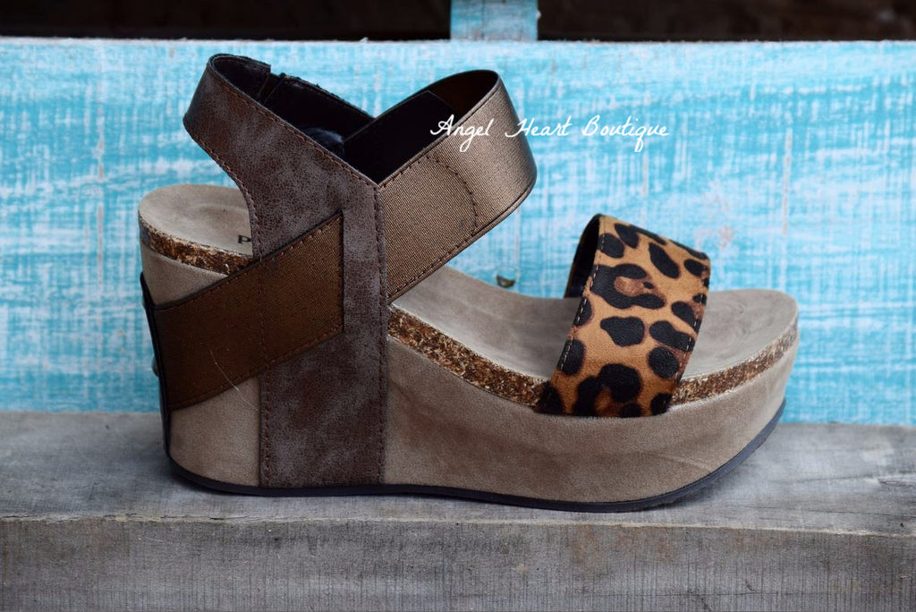 Cat Walk Wedge - Leopard [product type] - Angel Heart Boutique