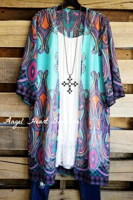 Always Find A Way Cardigan - Aqua [product type] - Angel Heart Boutique