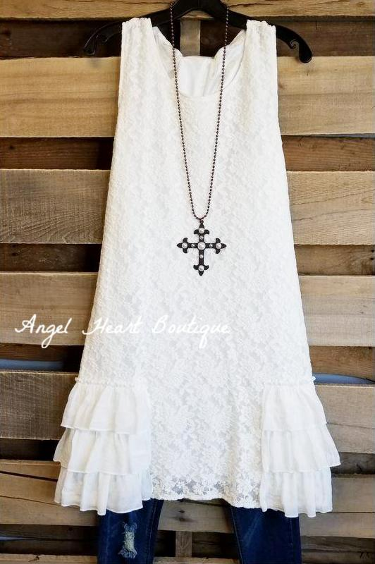 Only For You Dress - Off White [product type] - Angel Heart Boutique
